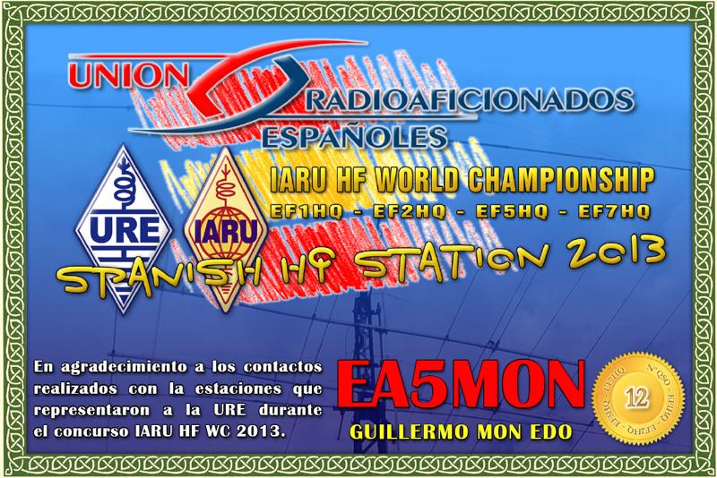 Diploma IARU 20133 - EA5MON