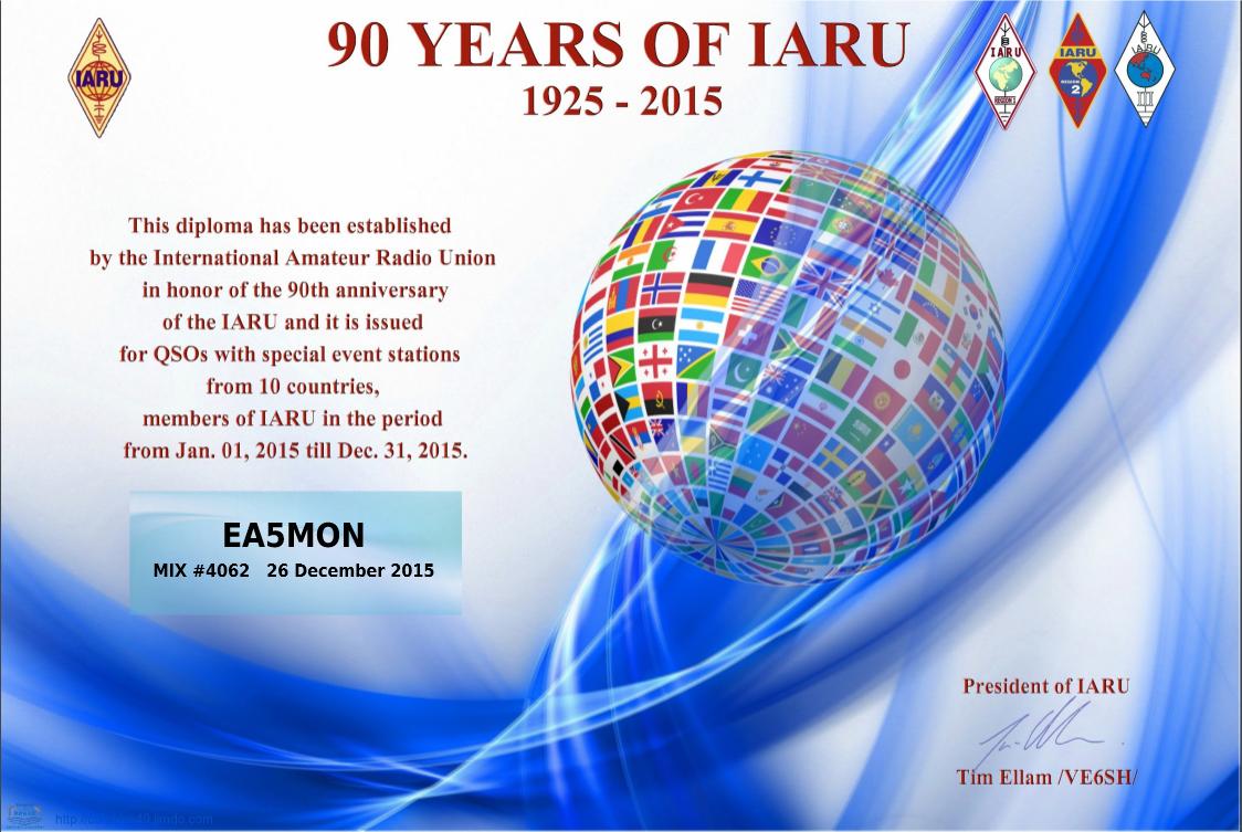 Diploma_90_Years_IARU_EA5MON_mixto_2015